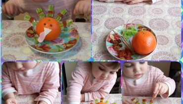Activity report for Make a turkey out of an orange with your kid in Wachanga!