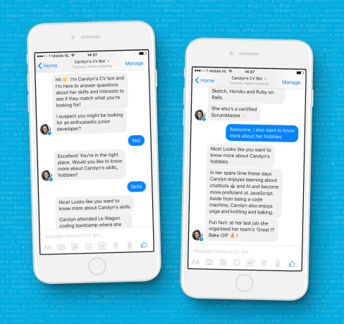 Carolyn aced her job interview with a CV chatbot