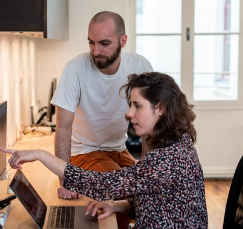 Paola & Thibault, freelancers at Moon Moon