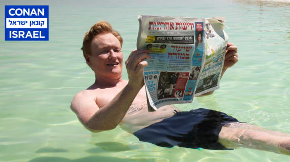 Conan Hits The Streets & Beaches Of Tel Aviv
