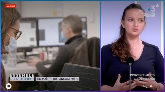 Discover the profession of web developer with Donia Joly on France 3 Provence