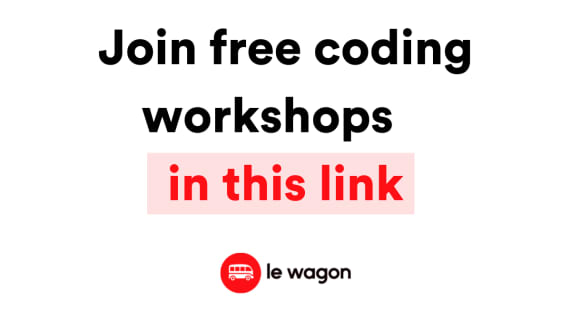 Check out our free coding workshops