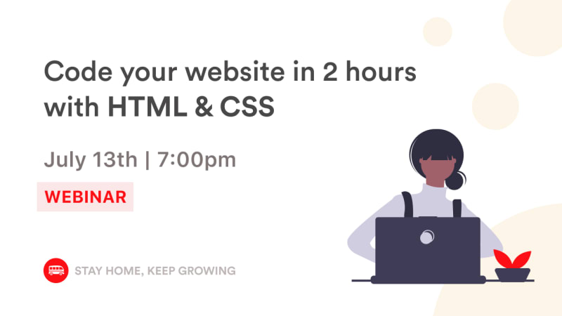 [webinar] Code your first website with HTML & CSS