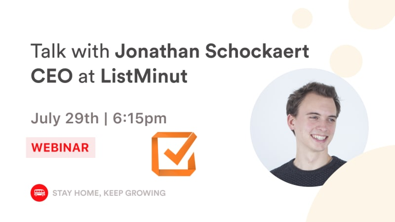 [Webinar Talk] Le Wagon Talk with Jonathan Schockaert, CEO at Listminut