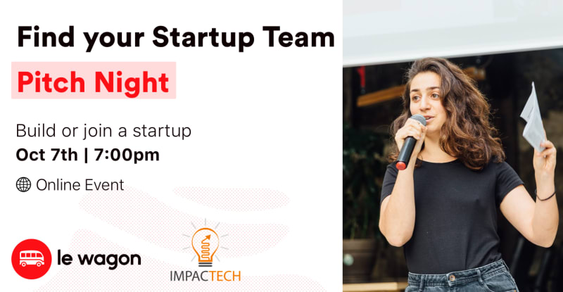 Find Your Startup Team: Pitch Night