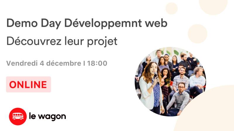 [Online] Le Wagon Demo Day - Développement web