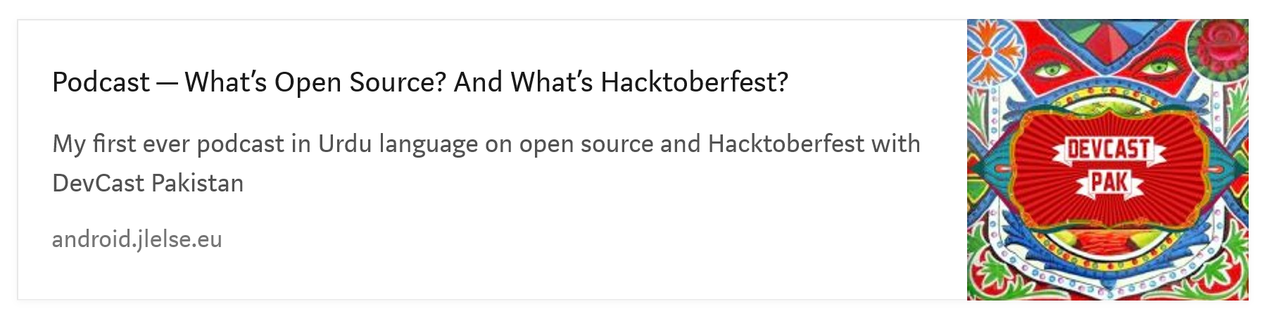 Podcast - What's Open Source and Whats Hacktoberfest?