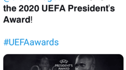 Former Chelsea star, Didier Drogba wins the 2020 UEFA President's Award