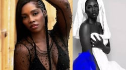 Nigerians React As Photo Of Tiwa Savage's Nipple Almost Falling Out Of Her Dress Hit The Internet