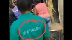 """""""Wonders Shall Never End""""- See What Was Written On This Looter's Cloth That Caught My Attention"""