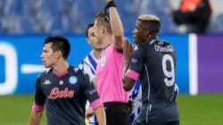 Victor Osimhen sees first career red in Napoli win