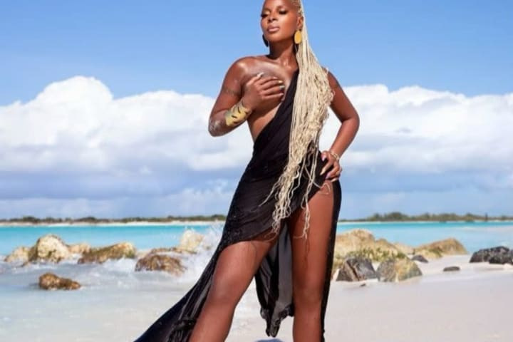 Mary J Blige shares beach pictures for her 50th birthday