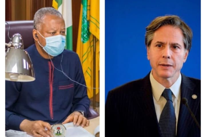 US Secretary of state Blinken in phone talk with Onyeama
