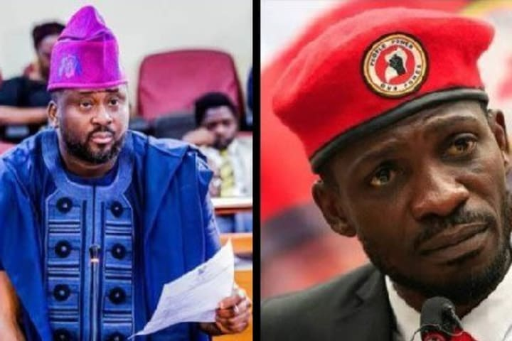 Nigerians knock Desmond Elliot, hail Bobi Wine