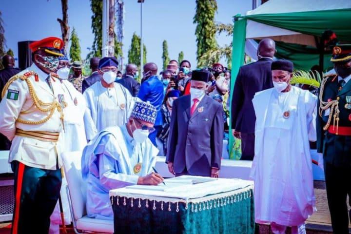 Photo News: Buhari, Lawan, others honour Nigeria's fallen heroes