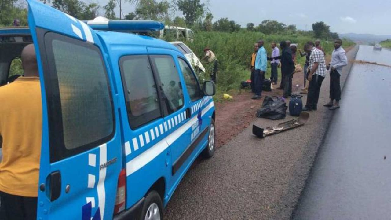 3 crushed to death as container falls on commercial bus in Ibadan