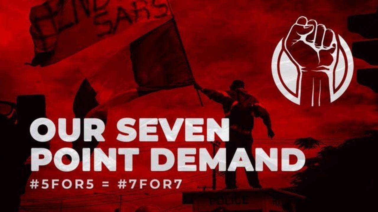 #EndSARS protesters highlight 7 demands for Buhari