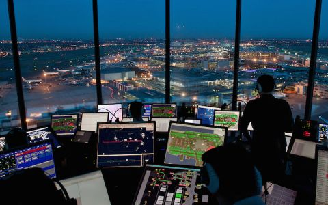 With the FAA's NextGen air traffic control system, planes use GPS instead of radar & voice for more direct routing and to automatically tell each other where they are.