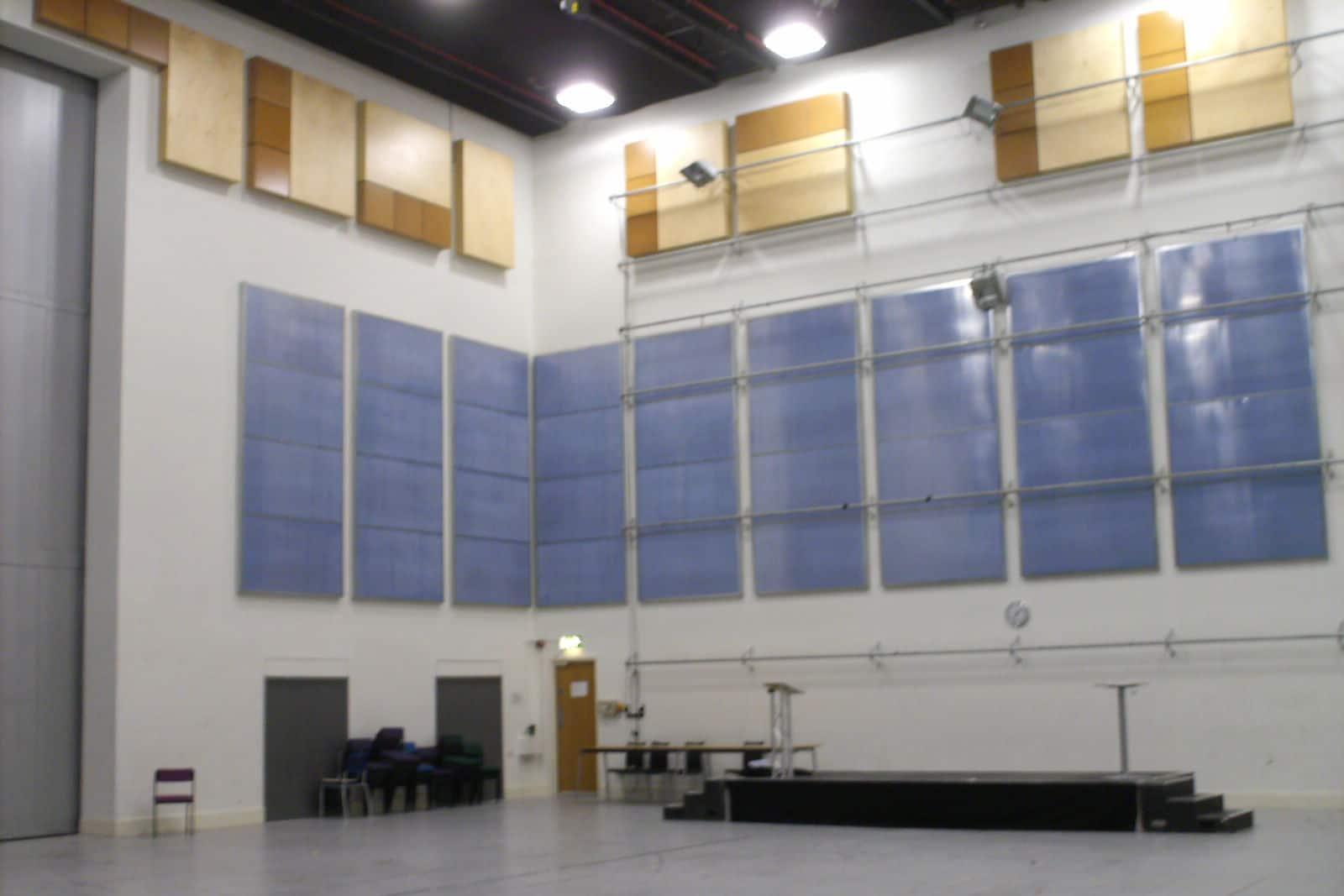 Empty rehearsal room