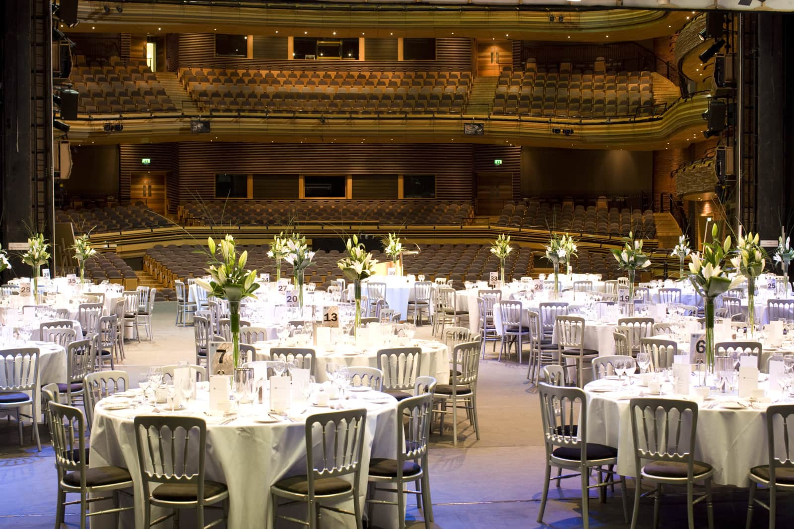 An An AGM dinner on the stage
