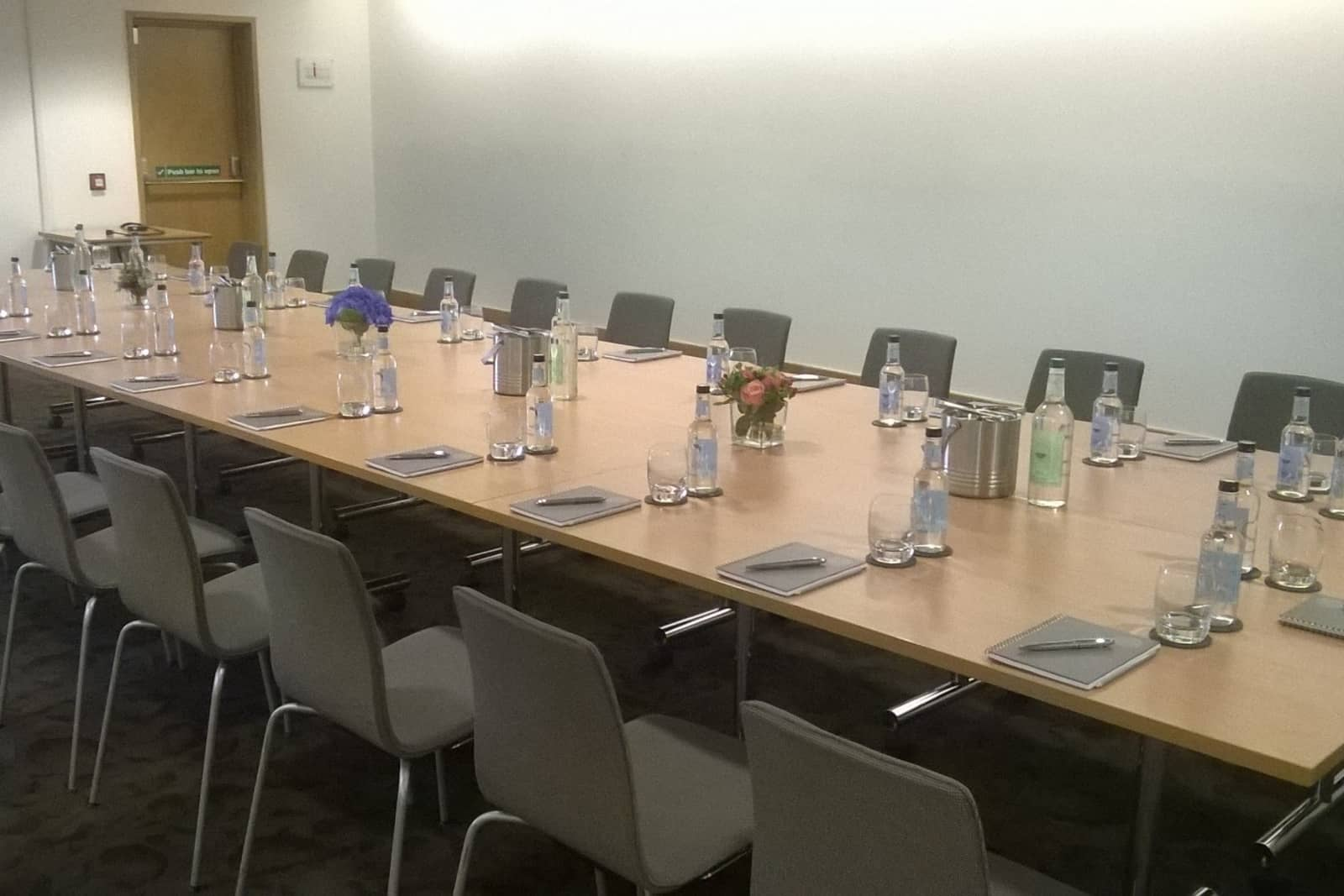 Boardroom style layout