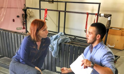 Jack chats to Kirsty Besterman