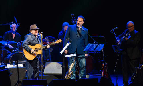 Van Morrison and Bryn Terfel on stage together