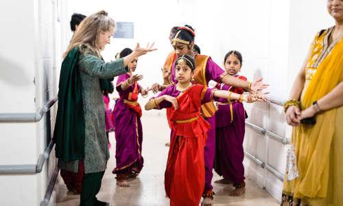 Local Tamil dancing group