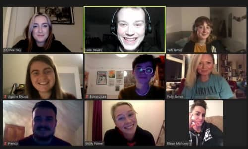 A zoom chat with young presenters and DJ Polly James