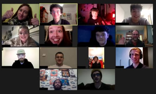Young people on a Zoom video call