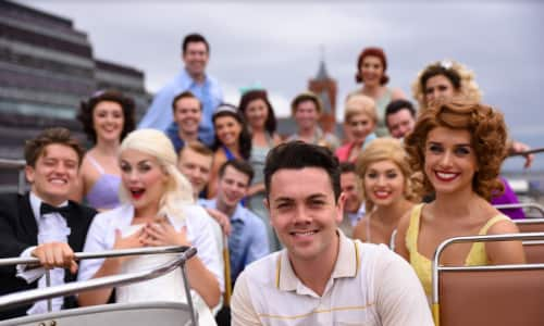 Ray Quinn and cast outside the Centre
