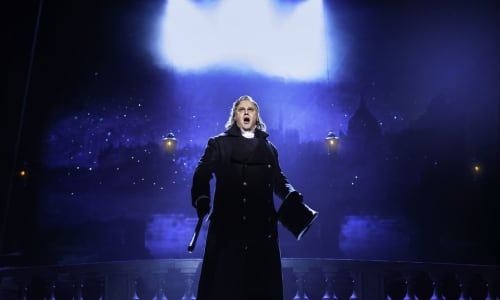 Nic Greenshield as Javert in Les Misérables