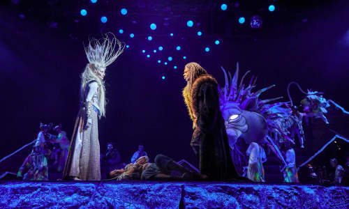 A scene from the show featuring the White Witch