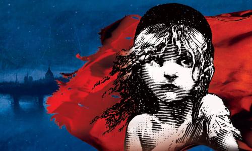 gwaith celf cynhyrchiad Les Misérables