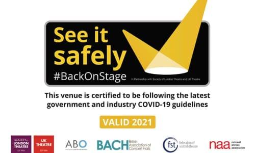 Covid safety venue certification logo.
