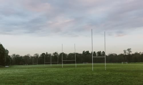 Empty rugby pitches