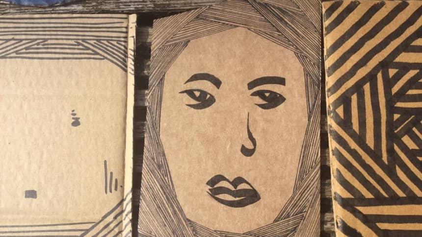 Creadigaethau cardbord gan / Cardboard creations by Flo Maugran
