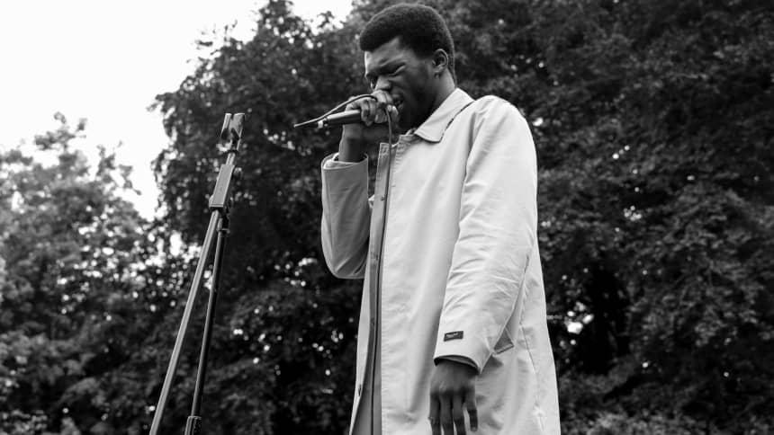 A young black man giving a speech