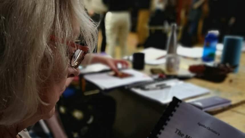 Susie Blake reads the script