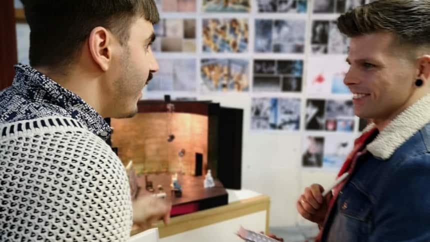 Set designer, Richard Kent (left)