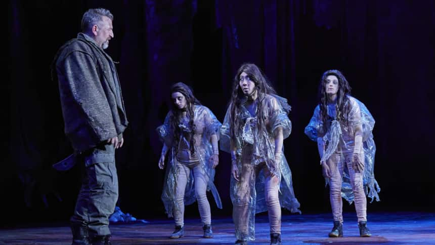 Michael Nardone, Evelyn Roberts, Elizabeth Chan and Olivia Sweeney in Macbeth