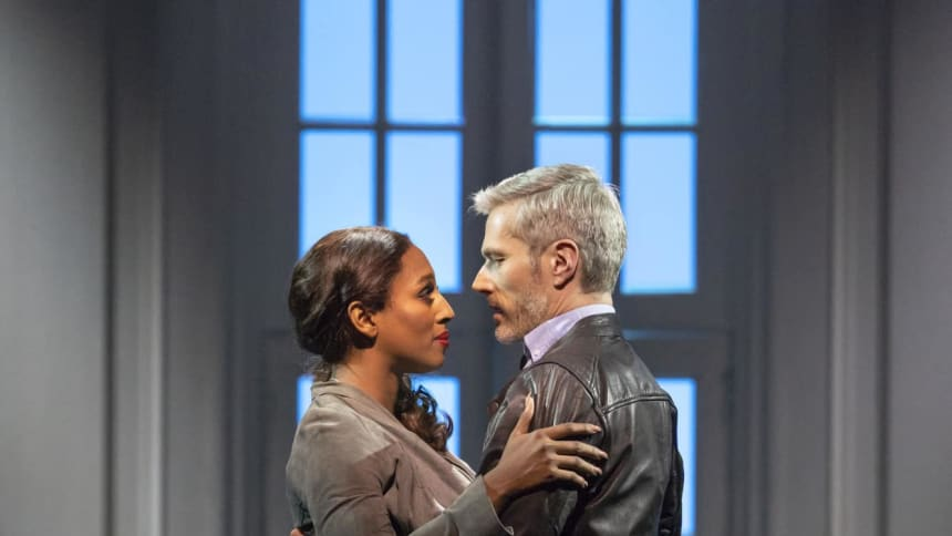 Alexandra Burke and Beniot Maréchal in The Bodyguard