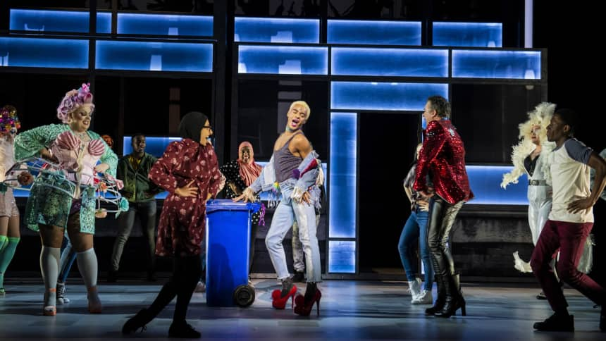 The cast of Everybody's Talking About Jamie ahead of their show at Wales Millennium Centre in May 2020