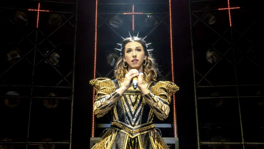 The UK Tour cast of Six the Musical; a pop musical about the six wives of Henry VIII, featuring Lauren Drew