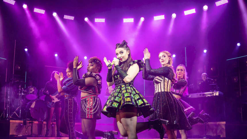 The UK Tour cast of Six the Musical; a pop musical about the six wives of Henry VIII, featuring Maddison Bulleyment, Jodie Steele, Lauren Drew, Shekinah McFarlane, Lauren Bryne and Athena Collins