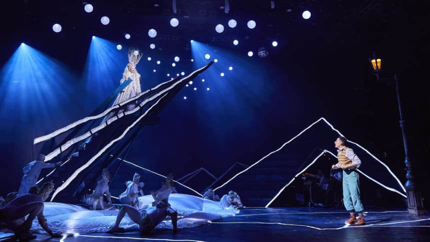 Characters Edmund and The White Witch in The Lion, The Witch and The Wardrobe at Wales Millennium Centre, December 2020