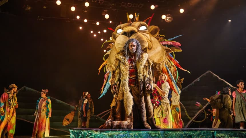 Character Aslan in The Lion, The Witch and the Wardrobe at Wales Millennium Centre in December 2020