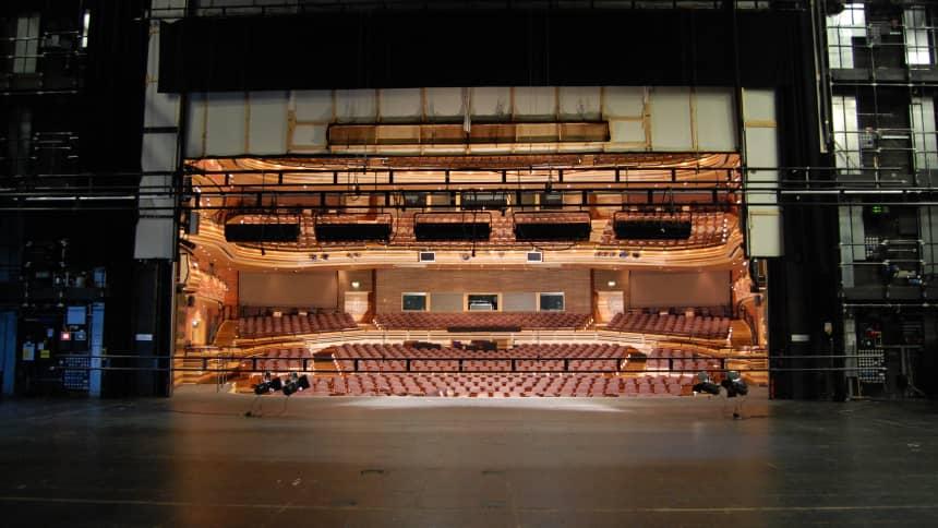 View from the stage / Golygfa o'r llwyfan yn edrych allan