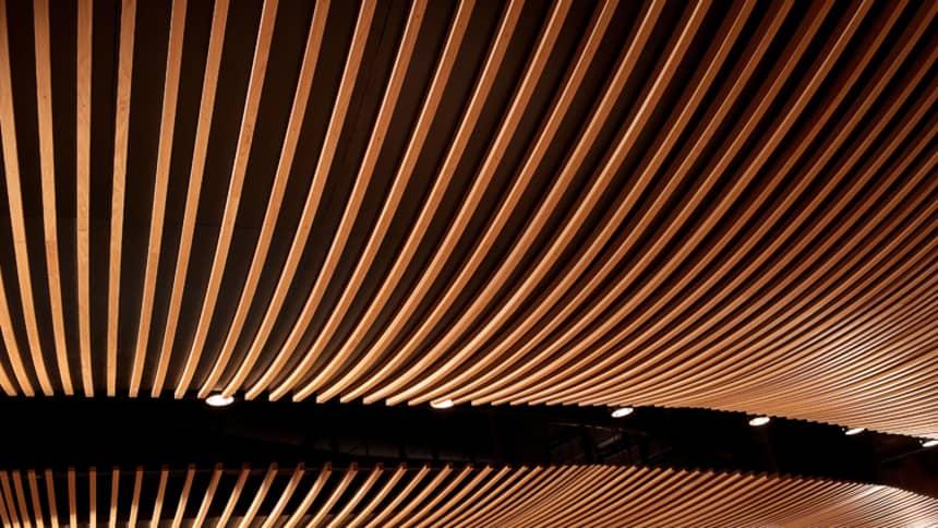 Every part of the theatre is designed to provide incredible acoustics / Mae pob rhan o'r theatr wedi'i gynllunio i ddarparu acwsteg anhygoel
