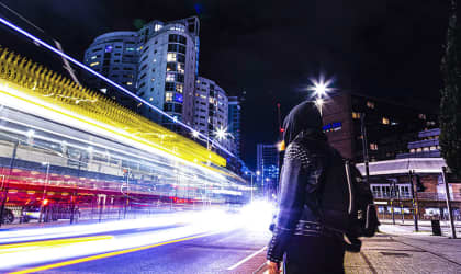 Night photography with a long exposure by Dee Bryan